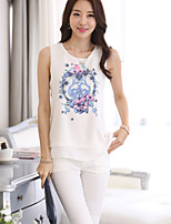 Women's Double Sleeveless Chiffon Vest