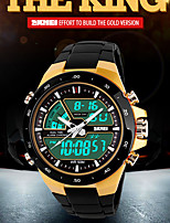 sportifs de montres multi-fonctionnels double fuseaux horaires de Skmei hommes règnent / calendar / chronographe / alarme