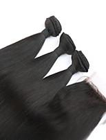 3pcs veel Peruaanse maagd haar steil inslag met 1pcs vetersluiting onbewerkt human hair extensions
