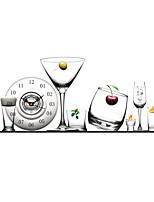 Modern Plastic 3D Effect Glasses Pattern Wall Clock 31.4*15.7 inch / 80*40 cm
