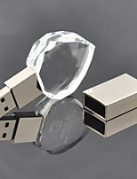8GB Heart Shaped Crystal Gift USB Flash Drive