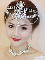 Women Crystal/Alloy Forehead Jewelry With Crystal Wedding/Party Headpiece