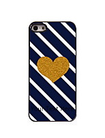 Personalized Gift Golden Heart Design Aluminum Hard Case for iPhone 5/5S
