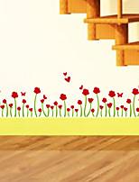 stickers muraux autocollants de mur, modernes fleurs d'amour papillon pvc stickers muraux