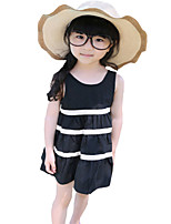 Kids Girls Summer Beach Dresses Vest Stripes Skirts Costume Tutu Sundress (Cotton Blends)