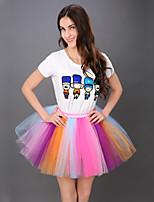 Puff Skirt Dance Tutu Dress    Dance Tutu Dress    Rainbow Colorful Tutu Skirt   Fluffy Tutu Skirt   Princess Tutu Skirt