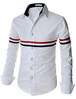Men's Fashion Slim Long Sleeved Shirt Color Bar