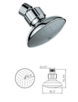 New Green ABS Plastic Water Saving Shower Head Shower Spout Replacement Chrome