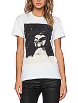 Women's Casual Micro-elastic Short Sleeve Novelty Print Punk T-shirts