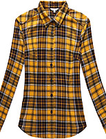 Women's Long Sleeve Check Flannel Blouse