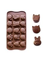 animales moldes de cocción de hielo / chocolate / molde de la torta en forma de