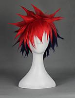 Parrucche Cosplay - Ryohei Sasagawa - Altro - 33cm - Rosso/Blu inchiostro