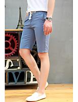 Men's Shorts , Casual/Work/Formal/Sport Plaids & Checks/Pure Cotton Blend
