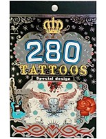 280PCS King horse Temporary Tattoo Stickers Non Toxic/Pattern/Glitter/Hawaiian/Waterproof Jewelry Flower Totem