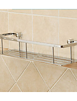 Chrome Solid Brass  Bathroom Shelf  Single Shelf  Storage Commodity Shelf
