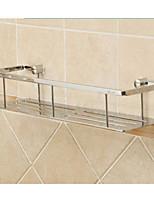 cromado latón macizo estante de baño plataforma única plataforma de almacenamiento de materias primas