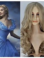 320g New Movie Princess Cinderella Wig Long Curly Ash Blonde Anime Cosplay Wig