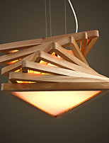 Chandeliers LED/Bulb Included Country Living Room/Bedroom/Dining Room/Study Room/Office/Kids Room/Game Room Wood/Bamboo