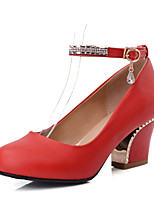 Women's Shoes Chunky Heel Round  Toe Ankle Strap Pumps Shoes More Colors available