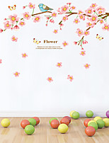 Wall Stickers Wall Decals Style Beautiful Peach Blossom PVC Wall Stickers