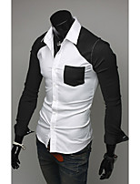 Hot Sell Summer Style 2015 Brand Long-Sleeve Shirt Men Clothes striped shirt men