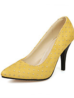Women's Shoes  Stiletto Heel Round Toe Pumps/Heels Outdoor/Office & Career/Casual Black/Yellow/Red/Orange