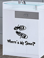 Wall Stickers Wall Decals Style Beautiful Shoes PVC Wall Stickers