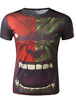Camiseta De los hombres Casual Estampado - Mezcla de Algodón - Manga Corta
