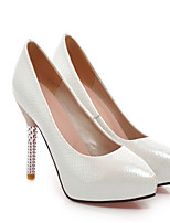 Women's Shoes  Stiletto Heel Round Toe Pumps/Heels Outdoor/Office & Career/Casual Green/Pink/White