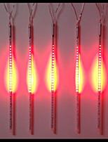 DC12V de entrada 46W 50cm largos 72pcs 5050 SMD LED luz lluvia de meteoritos, el rojo 10 PC / sistema