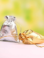 Glod and silvery Drawstring Favor Bags Set of 12