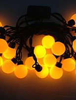 4W 5 Meter Outer Diameter 20pcs Bulb LED Modeling String Lights  Super Big Ball Lights, Yellow Color