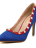 Women's Shoes Silk Stiletto Heel Pointed Toe Pumps Party More Colors available