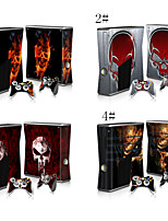 Protective Vinyl Skin Decal Cover for Microsoft Xbox 360 S Slim + 2 Controller Skins Sticker Skins
