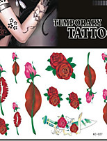 Tattoo Stickers Non Toxic/Pattern/Lower Back/Waterproof Others Adult/Teen Black Paper 1 17*16 Lips