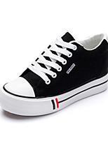 Zapatos de mujer - Tacón Plano - Creepers / Punta Redonda - Sneakers a la Moda - Oficina y Trabajo / Casual - Tela - Negro