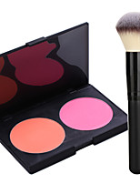 Pro Party 2 Colors Face Blush Blusher Powder Palette + Powder Brush