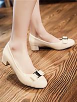 Women's Shoes  Kitten Heel Round Toe Pumps/Heels Outdoor/Office & Career/Casual Black/Red/White