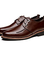 Men's Shoes Office & Career/Casual Leather Oxfords Black/Brown