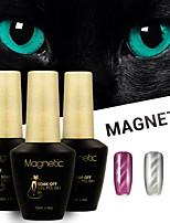 Azure 3 Pcs/Lot Magnetic Gel Polish Cat Eyes Magnetic Nail Gel Lacquer Soak off UV Gel (#57+#58+#59)