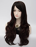 European and American Wind Black Highlights The Big Waves High Temperature Silk Wig