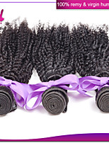 peruanische Afro verworrenes lockiges Haar 4pcs / lot remy Menschenhaar 6a unverarbeitete reine Haar