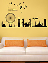 Wall Stickers Wall Decals Style City Silhouette PVC Wall Stickers