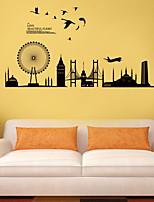 autoadesivi della parete a parete in stile decalcomanie adesivi murali city silhouette pvc
