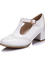 Girls' Shoes Casual Heels/Round Toe  Pumps/Heels Pink/White