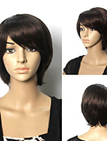 Popular Short Natural Color Hair Wigs Hair Wave Synthetic Hair Wigs