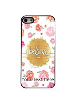 Personalized Gift Believe Design Aluminum Hard Case for iPhone 5/5S