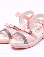 Girls' Shoes Party & Evening/Dress/Casual Peep Toe/Round Toe Faux Leather/Customized Materials/PU Sandals Blue/Pink/Red