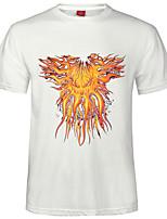 Katoenmix - Print - Heren - T-shirt - Informeel/Werk/Formeel - Korte mouw