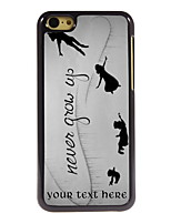 Personalized Gift Never Grow Up Design Aluminum Hard Case for iPhone 5C